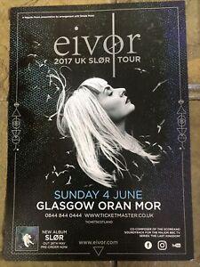 Eivor - UK Concert / Gig Poster, Glasgow, June 2017