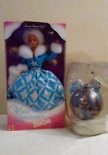 Special Edit.1996 Winter Renaissance Barbie & Rare Matching Ornament w/Stand Mib