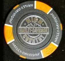 Black & Orange Harley Davidson Poker Chip High Country Frederick Colorado