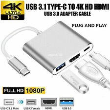 USB-C Type C to 4K HDMI HDTV Adapter Cable For Huawei Samsung Macbook Xiaomi HTC