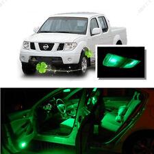For Nissan Frontier 2005-2014 Green LED Interior Kit + Green License Light LED