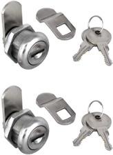 2pcs Cabinet Cam Lock Keyed Alike Tool Box Locks 58 Cylinder For Truck Pickup