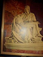 large Vintage MICHELANGELO PIETA  FRAMED PRINT PICTURE Turner Wall Accessories