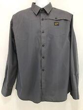 Mens G Star Raw XXL 2XL Grey Western Style Long Sleeve Button Down Shirt NWT