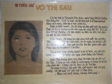 Hand Made - Revolutionary Poster - Viet Cong - 1960's - Vo Thi Sau - Vietnam War