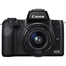 Canon EOS M50 24.1MP DSLR-Kamera mit  EF-M 15-45mm f/3.5-6.3 IS STM Objektiv - Schwarz (2680C012)