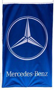 MERCEDES BENZ-FLAG BLUE VERTICAL BANNER 5 X 3 FT 150 X 90 CM