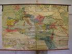 Schulwandkarte Beautiful Old Mediterranean Roman Rich 220x146c Vintage Map~1920