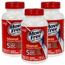 3 x Schiff Move Free Advanced Triple Strength 200 Tabs Glucosamine & Chondroitin
