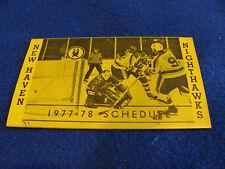New Haven Senators 1992//93 AHL Minor Hockey Pocket Schedule Busch