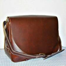 NEW AMERILEATHER 2700-4 VINTAGE LEATHER FLAPOVER BUSINESS BRIEFCASE - DARK BROWN