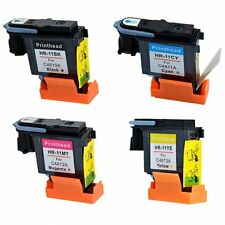 4 Pack for HP 11 Printhead Black Cyan Magenta Yellow Remanufactured Long-life