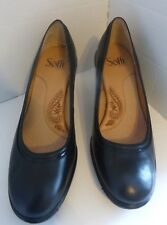 Sofft Black Leather Pumps Size 7.5 M   3 inch heels Dressy Casual