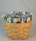Longaberger 1998 Oregano Booking Basket Set - Mother's Day Floral