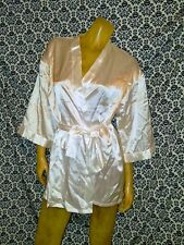 Dreamgirl White Satin 100% Polyester Robe w Belt Intimates Womens SMALL USED