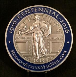 STANDING LIBERTY QUARTER Centennial Medallion ~ Hermon A. MacNeil ~ 1916-2016