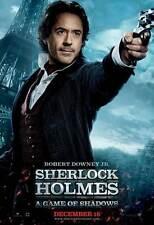 SHERLOCK HOLMES A GAME OF SHADOWS Movie Promo POSTER H Robert Downey Jr.