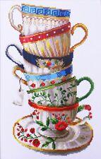 Stickpackung Kreuzstich COFFEE CUPS, 20 x 34 cm sticken Handarbeiten Zählmuster