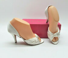 J. Crew Hadley Knotted D'Orsay Ivory White Wedding Bridal Heels Shoes Womens 6