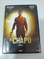 El chapo Primera Temporada Completa - 3 x DVD Español Latino Ingles