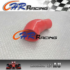 """RED Silicone 45 Degree Reducer Elbow Joiner Turbo Hose fit 64mm-76mm 2.5""""-3"""""""