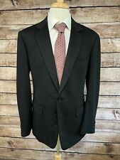 Charvet Solid Black Wool Sportcoat Size 42 R Heavy Blazer Jacket