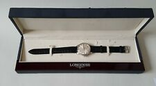 Men' Stainless Steel Longines Conquest Heritage Automatic Wrist Watch & Box