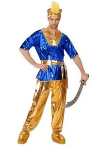 Deluxe Sultan Arab Prince Panto Ai Baba Lawrence Mens Fancy Dress Costume S- XL