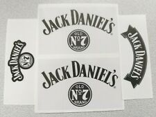 4PCS-JACK DANIELS-CLEAR GLOSS STICKERS-(2-PCS 100mm x 35mm-2PCS 100mm x 60mm)-