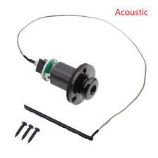 Black Acoustic Guitar Piezo Pickup Under Saddle Output End Pin Jack