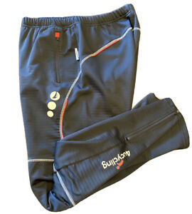 4ucycling Mens Cycling Winter Sports Pants Fleece Lined Windproof Black Size XL