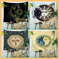 Bohemian Moon Sun Tapestry Wall Hanging Mandala Hippie Blanket Art Home Decor