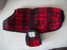 FOGGY MOUNTAIN DOG red tartan plaid SMALL terrier scottie COAT VEST xs Gift