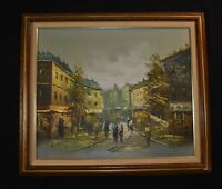 K .POLARY FRENCH IMPRESSIONISM PAINTING OIL/CANVAS FINE ART SiGNED FRAMED 25x29