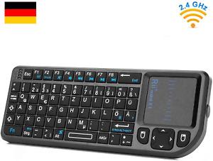 Rii X1 2.4GHz Mini Tastatur Wireless mit Touchpad-Maus und Multimedia Tasten,