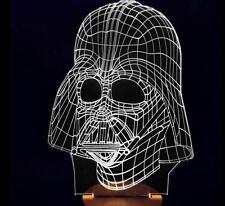 3D bulbing Star War Darth Vader Night 3 color change LED desk table light lamp