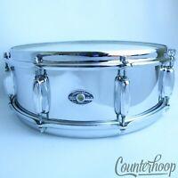 "Slingerland 14x5""Festival Snare Drum Chrome Steel 8-Lug Niles,IL USA Vintage 70s"