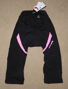 SANTIC Cycling Pants Shorts BLACK & PINK Padded Medium Distance Women NWT Lg
