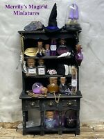 Fully Stocked Dolls House Witches Kitchen Dresser Merrily's Magical Miniatures