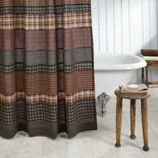 Beckham Rustic Patchwork Country Cabin Cotton Shower Curtain