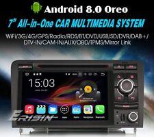 """AUTORADIO 7"""" Android 8.0 4gb Audi A3 S3 Navigatore comandi Volante Wifi Dvd Usb"""