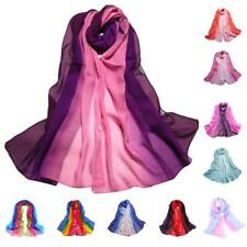 Fashion Ladies Gradient Color Long Wrap Women's Shawl Chiffon Scarf Scarves