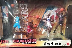 New Mattel Michael Jordan Then And Now Collection Figures 1999 NBA Chicago Bulls