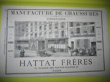Pub 1878 - Manufacture de Chaussures Hatta Frères