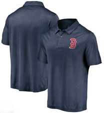 Majestic MLB Boston Red Sox Baseball Cool Base On Field Golf Polo Navy Shirt S