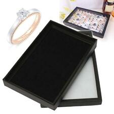 Jewelry Rings Display Tray Velvet Pad 100 Slot Show Case Box Jewelry Storage TV