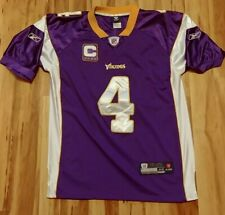 Minnesota Vikings NFL Reebok Football Jersey #4 Farve & Captain Patch Adult 48