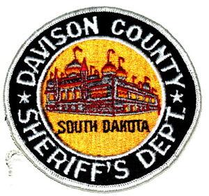 DAVISON COUNTY SOUTH DAKOTA SD Sheriff Police Patch AA24