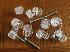 """10 x Clear Mirror Wall Mounting Clip Bracket 3/16 """" thick + screws, USPS track #"""