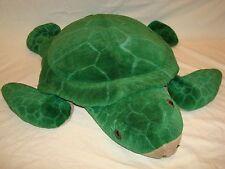 "X-Large 24"" Sea TURTLE PLUSH Stuffed Animal Soft Reptile Kid Toy UNIQUE Boy Girl"